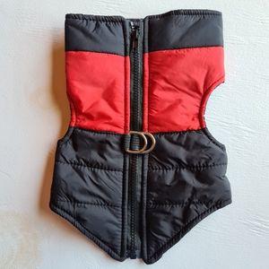 NWOT Pet Dog Warm Coat Jacket Red Size M